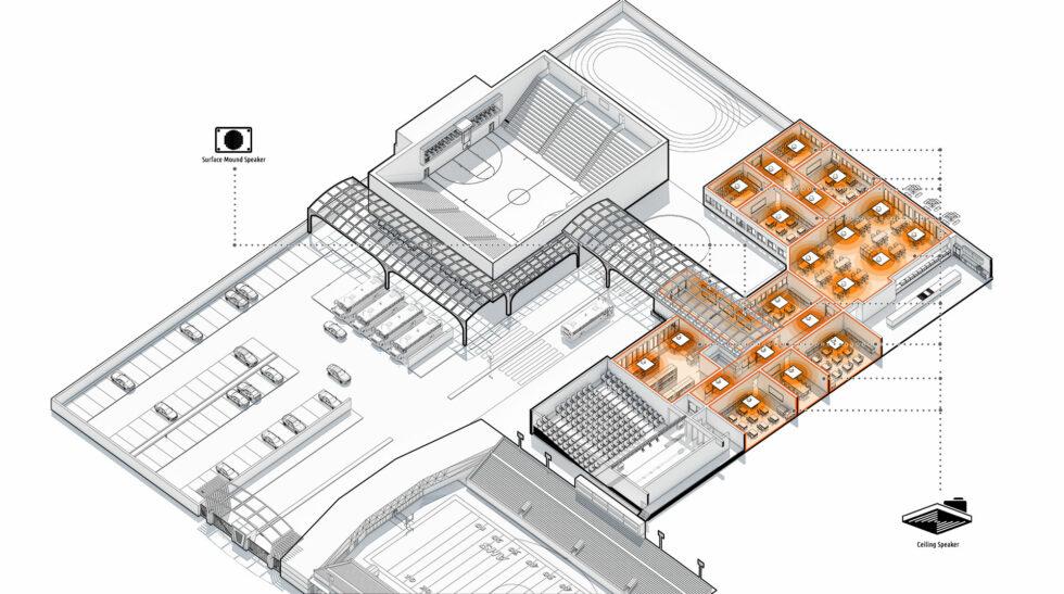 IP Speaker campus diagram
