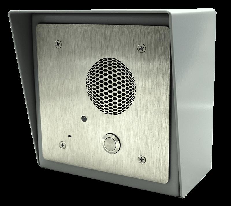 Outdoor IP Intercom with hood accessory