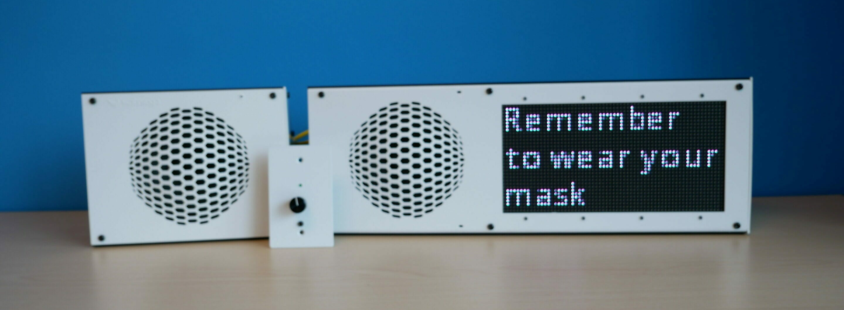 Sound Reinforcement Panel and IP Displays for COVID Response